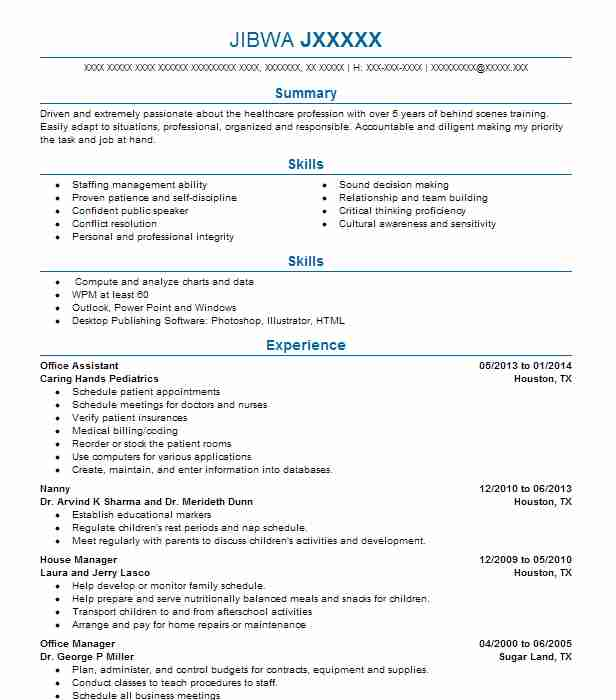 Office Assistant Objectives Resume Objective LiveCareer