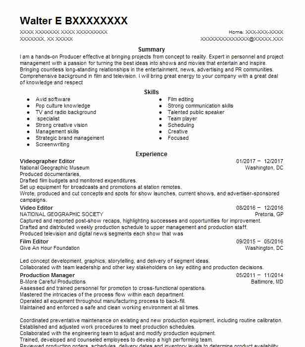 resume example for entry level position