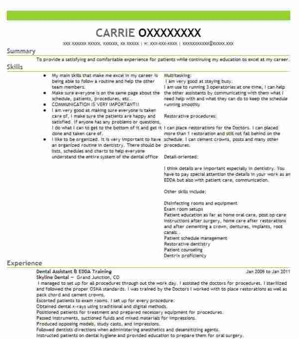 Dental Hygienist Resume Objectives Resume Sample LiveCareer