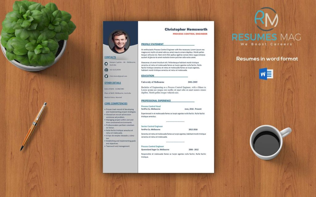 Apex - Two Pages Professional Resume Template - Resumes Mag | Resume ...