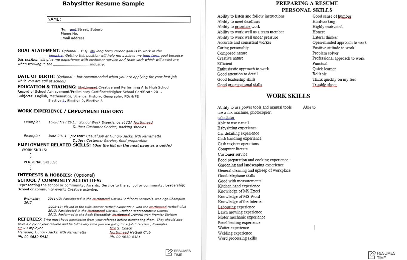 Example Resumes 100 Free Resume Samples Examples At Resumestime
