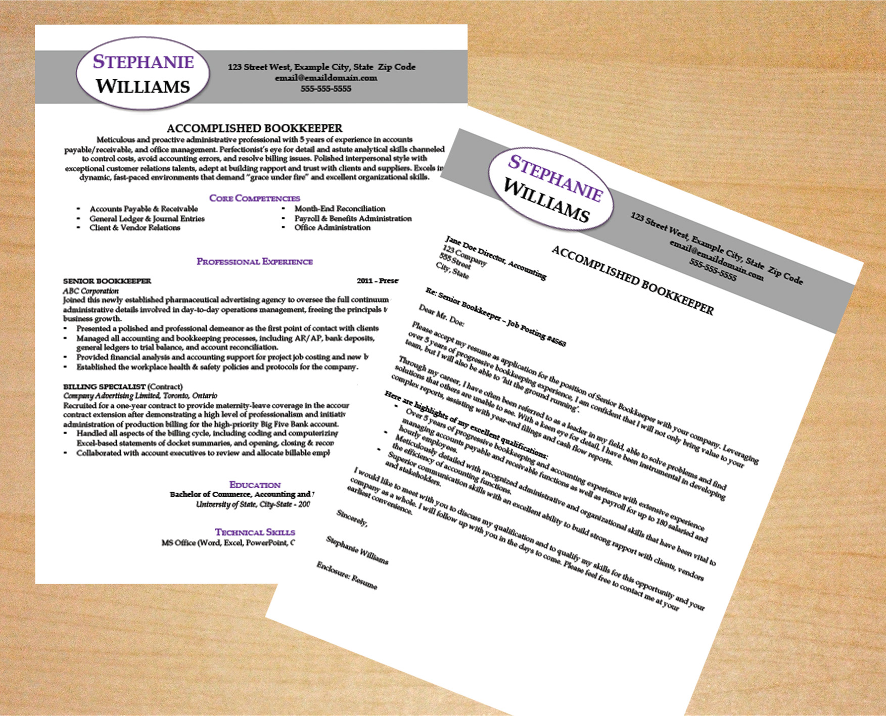 Cover Letters For Resumes Bookkeeper Resume Cover Letter Template