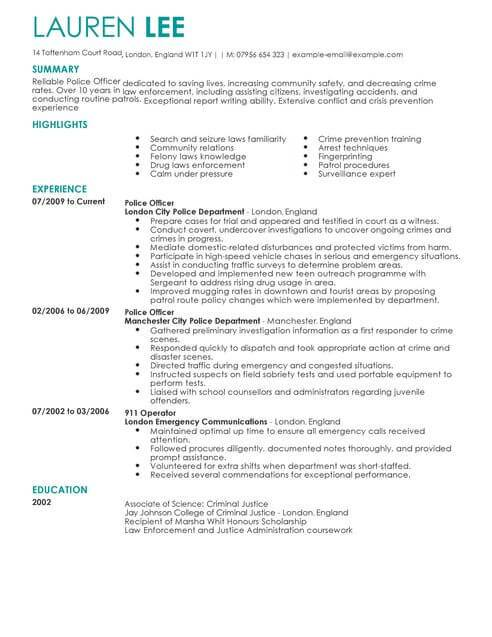 Resume Objective Examples For 911 Dispatcher Resume