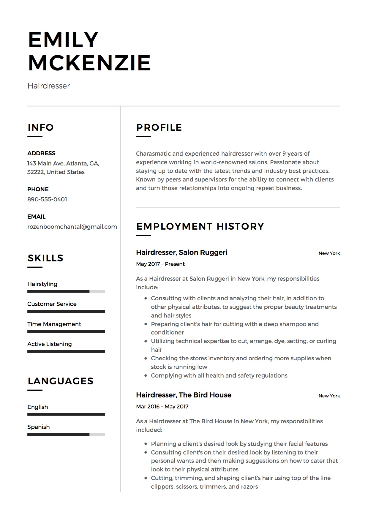 Hairdressing Resume Sample Australia Nice Hairdresser Resume Samples Pictures Gt Gt Hairstylist
