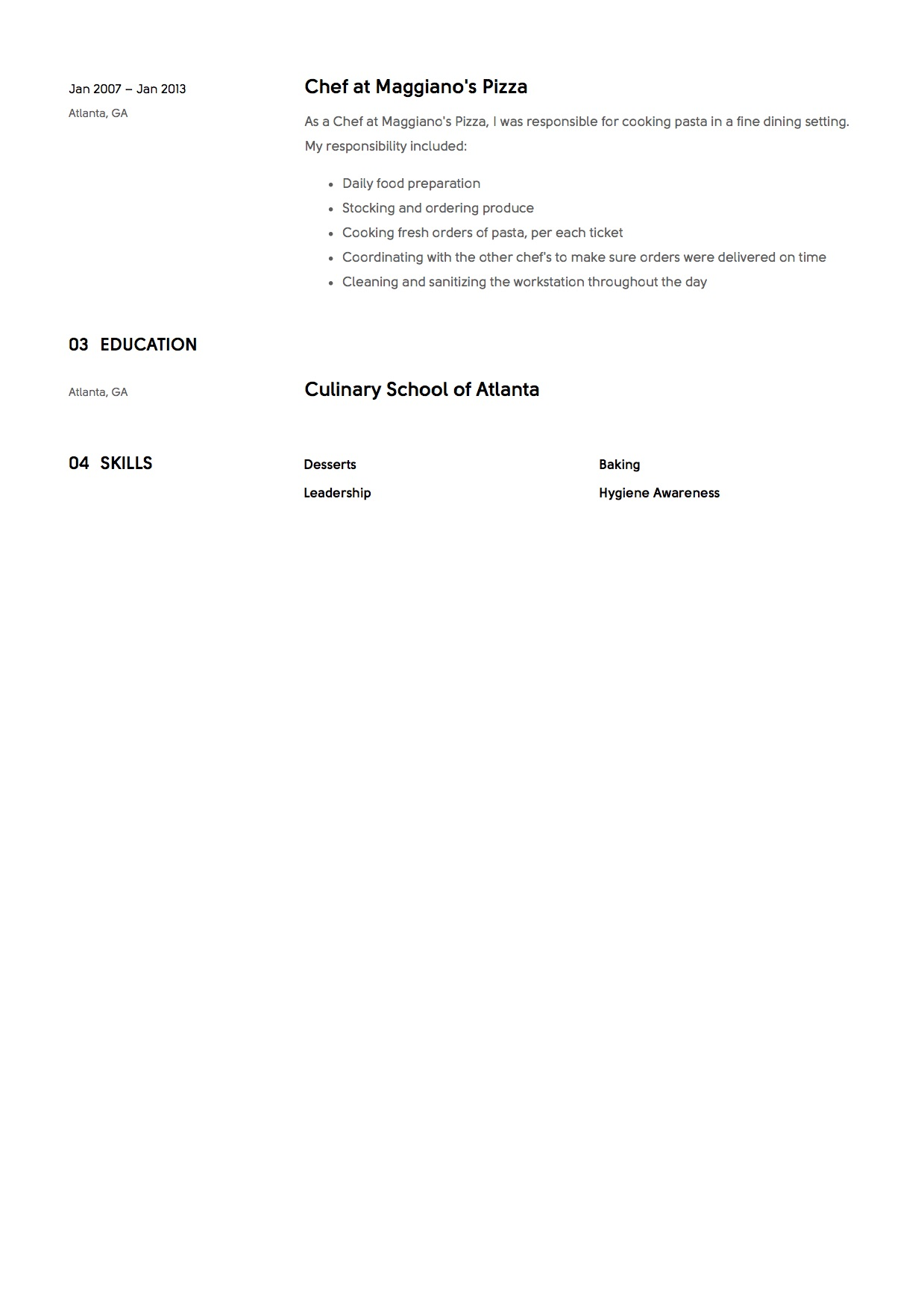 Chef Responsibilities Resume 12 Chef Resume Sample S 12 Different Designs 2018