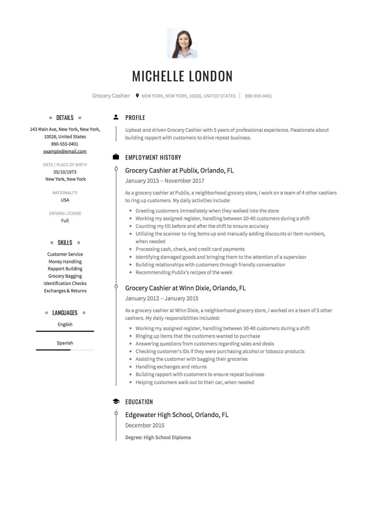 Cashier Experience Resume 12 Grocery Cashier Resume Sample S 2018 Free Downloads