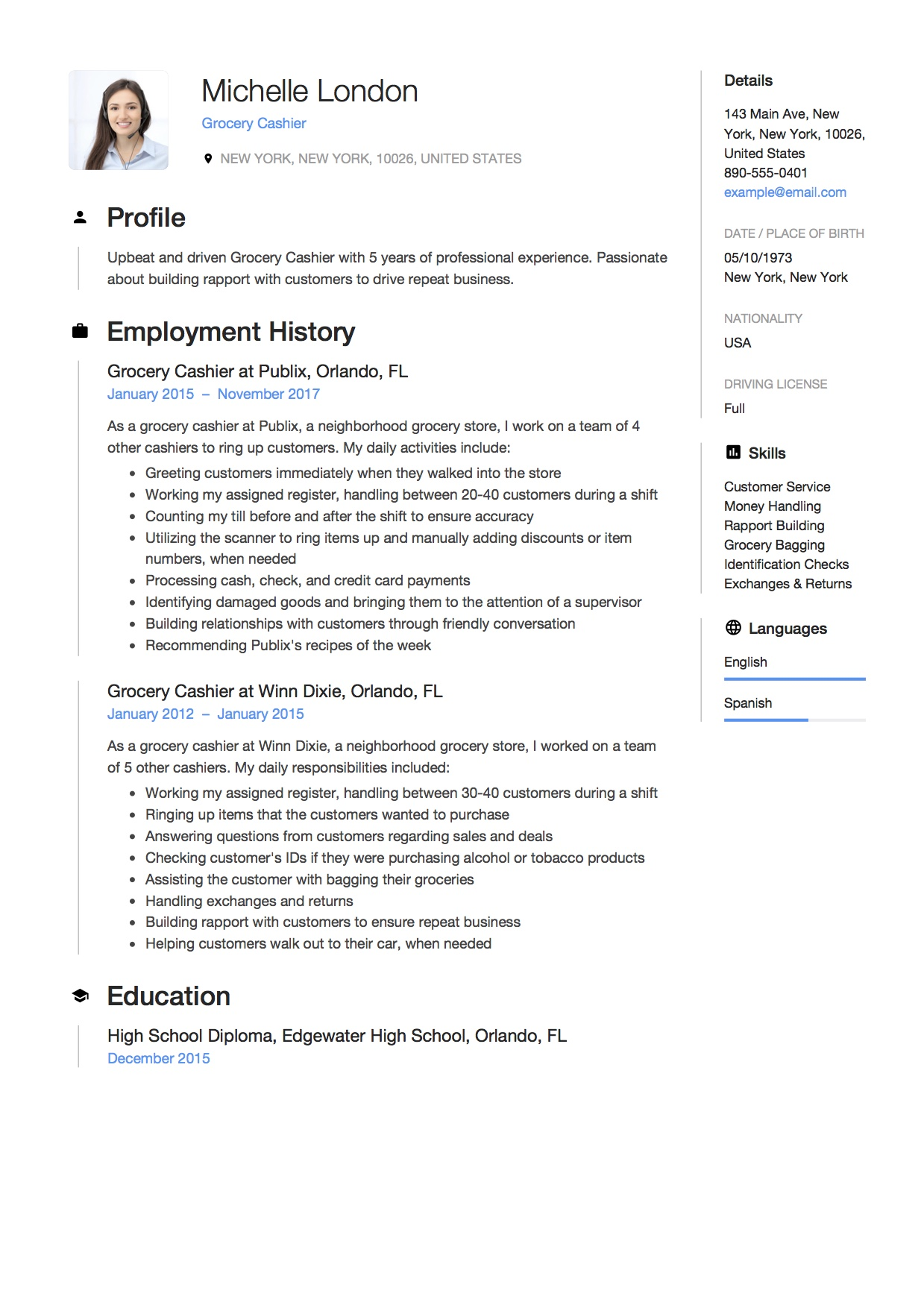 How To Describe Cashier On Resume 12 Grocery Cashier Resume Sample S 2018 Free Downloads