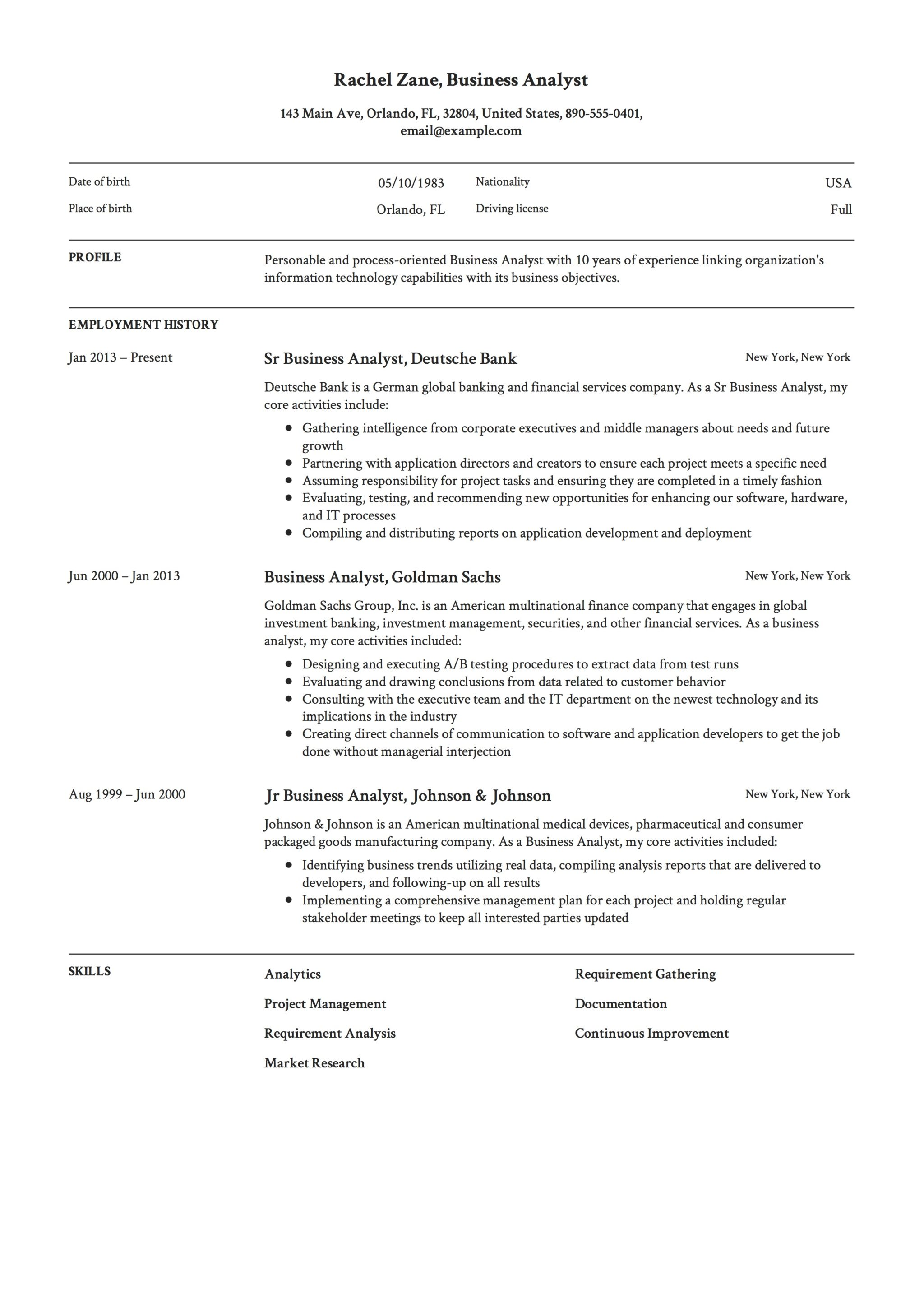 Business To Business Resume Full Guide Project Manager Resume 4312 Samples Word