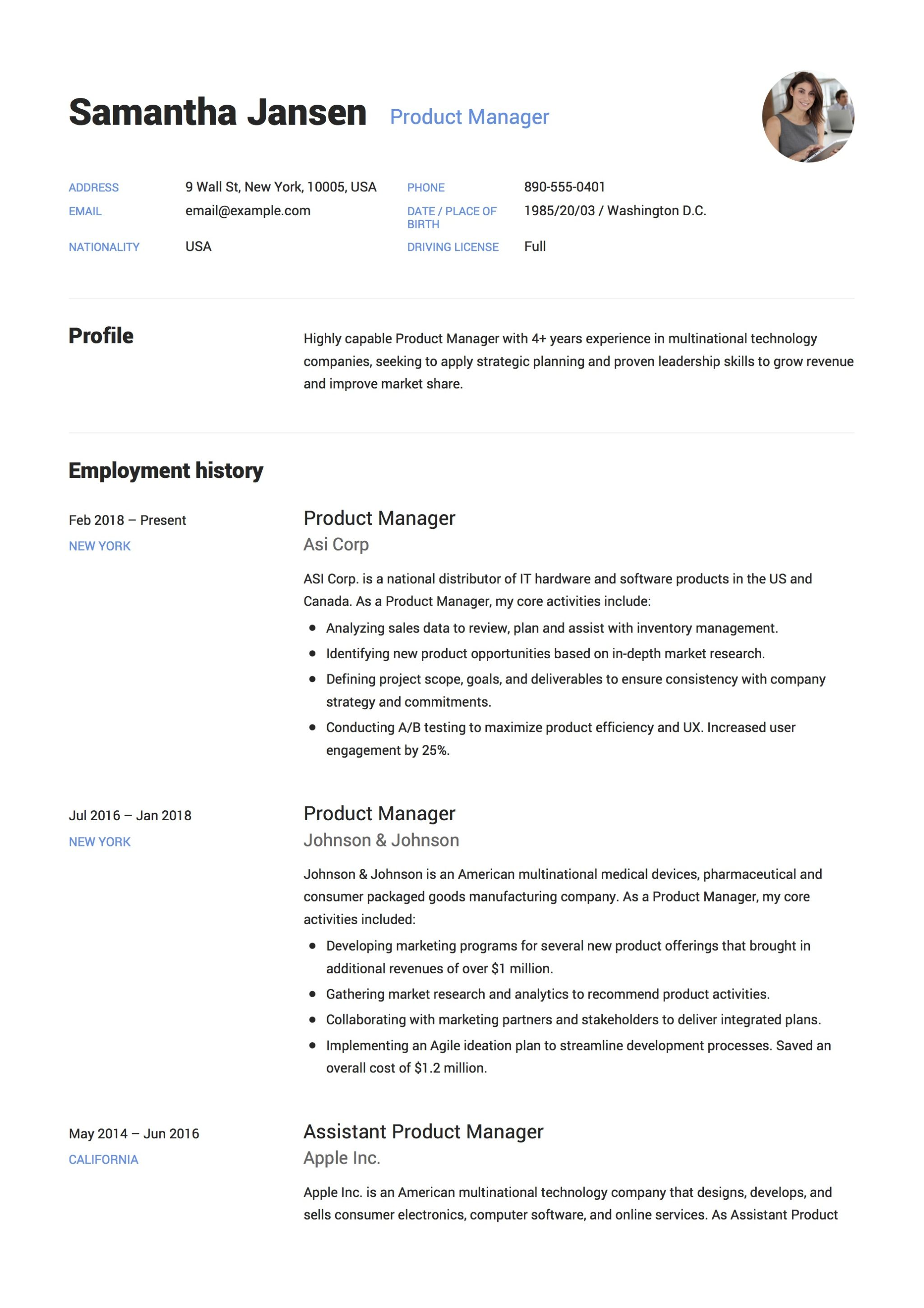 Resume Management Software Free Download 12 Product Manager Resume Sample S 2018 Free Downloads