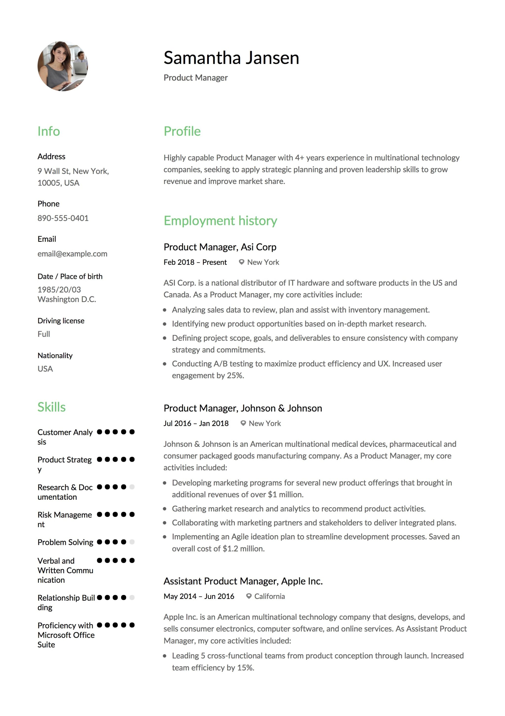 Best Product Manager Resumes Product Manager Resume Resume 43 12 Samples Pdf 2019