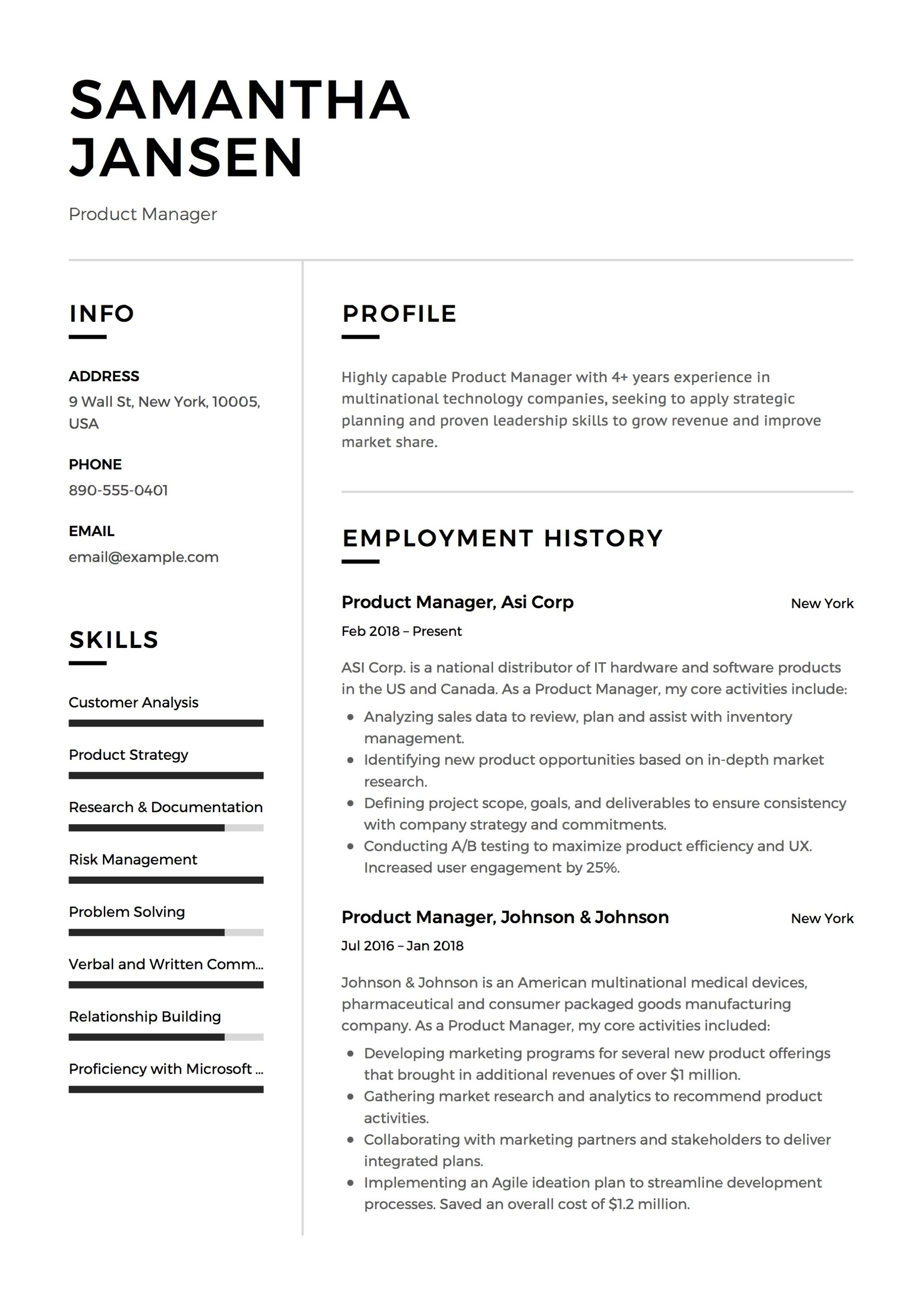 It Executive Resume Sample 12 Product Manager Resume Sample S 2018 Free Downloads