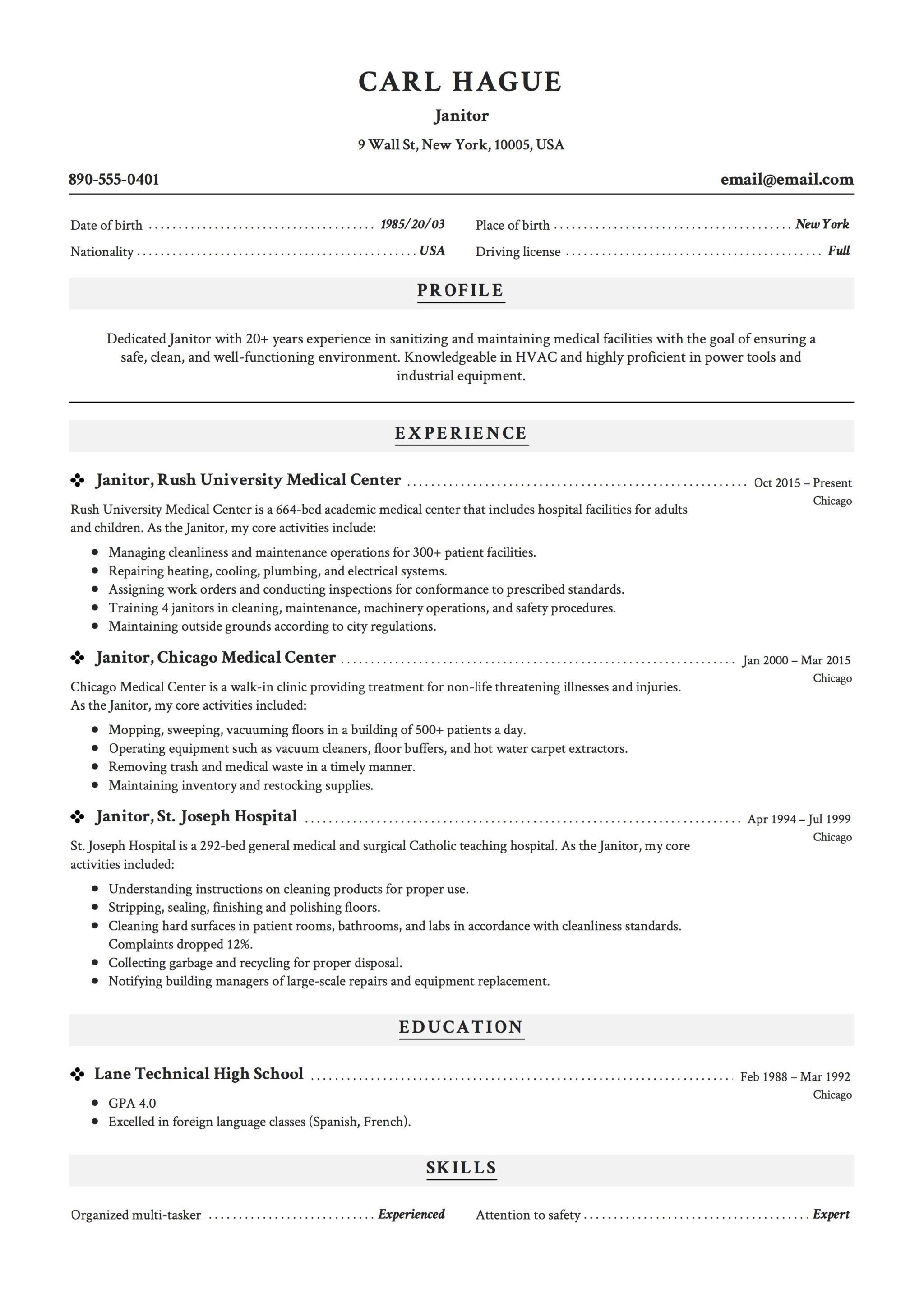 Lead Teacher Job Description Resume Janitor Job Description Resume Lead Custodian Janitor