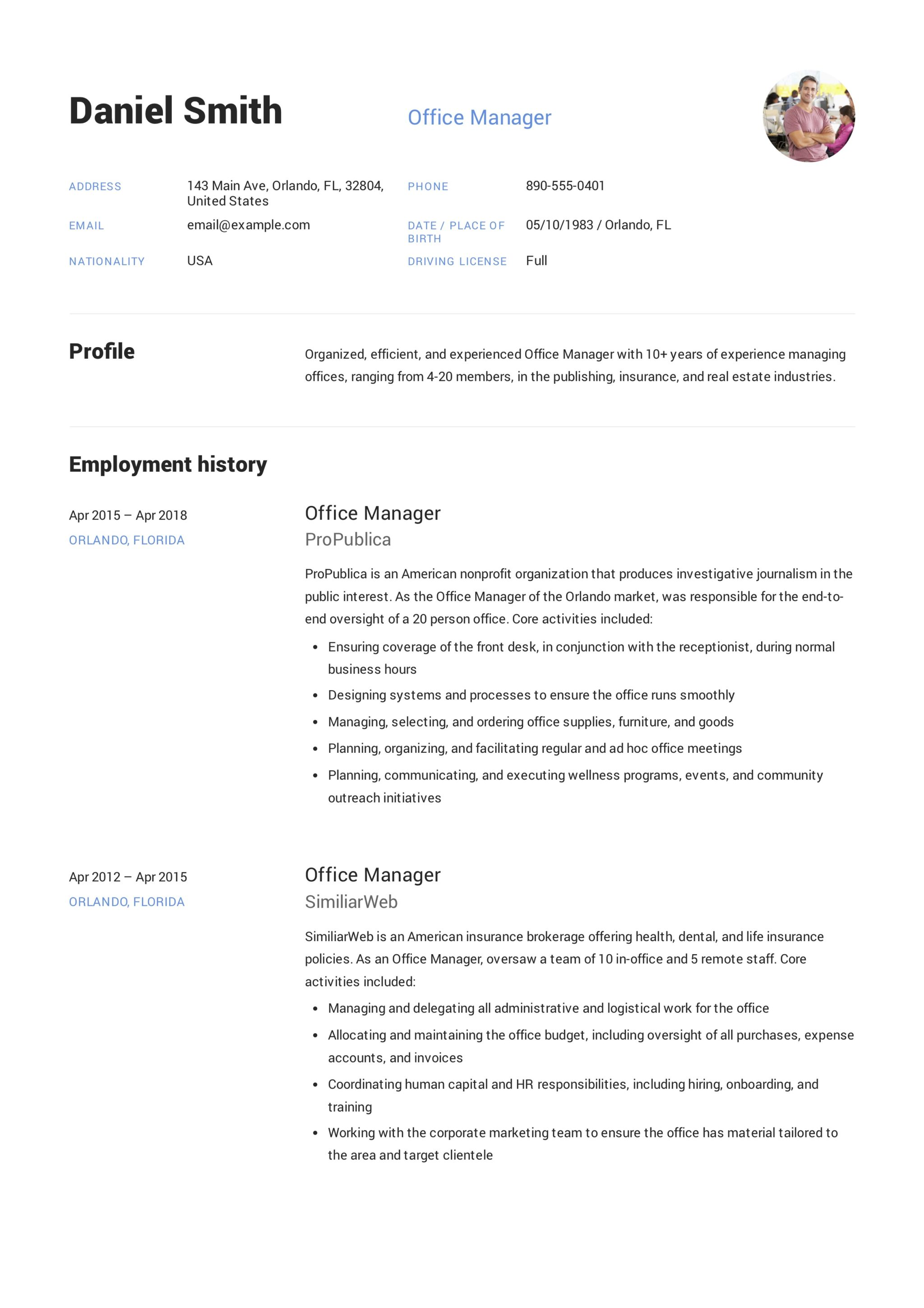 Office Resume Template Guide Office Manager Resume 12 Samples Pdf 2019