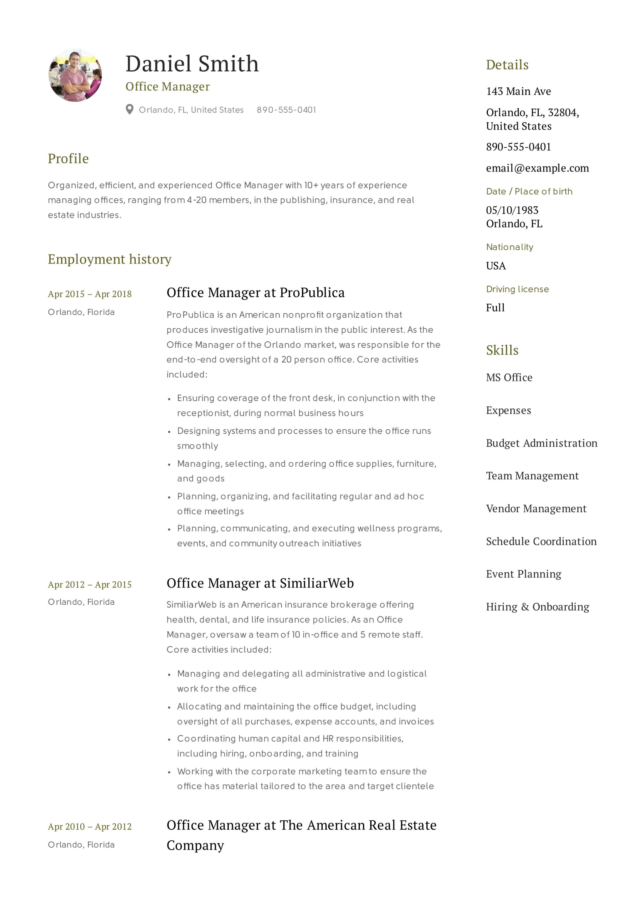 Office Administration Resume Examples Guide Office Manager Resume 43 12 Samples Pdf 2019