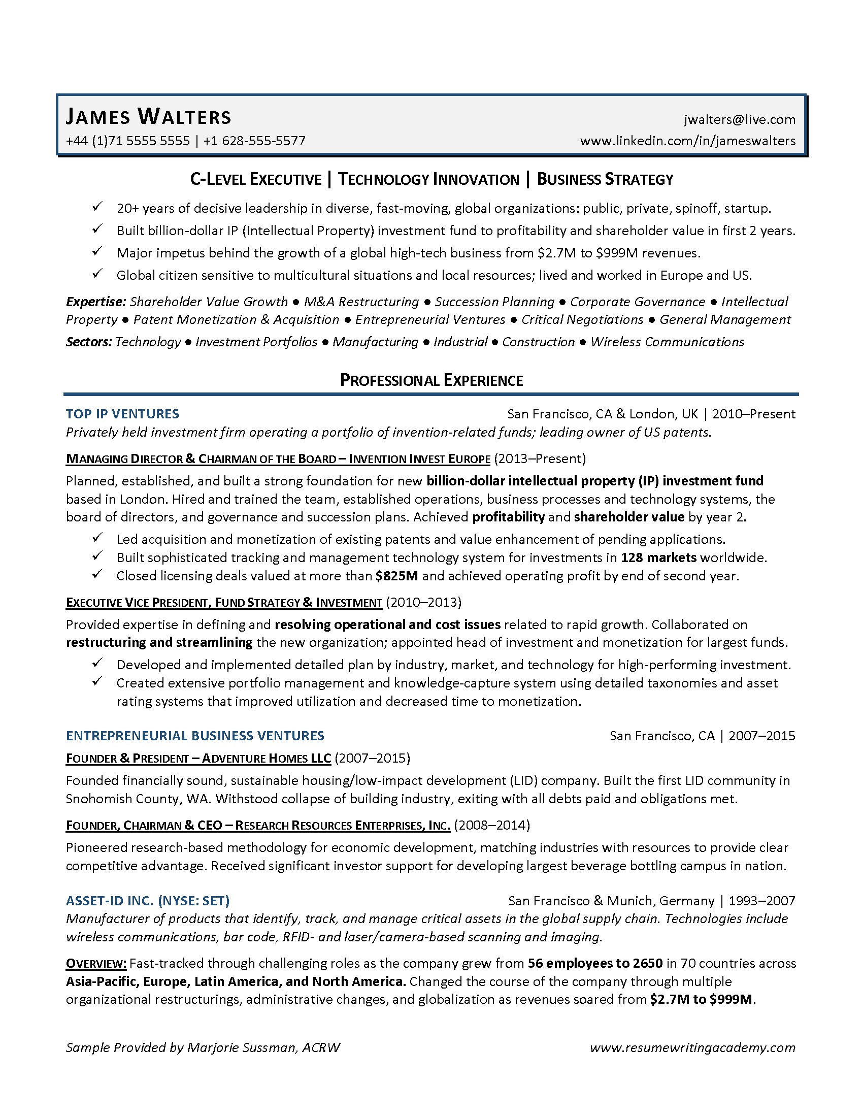 Strategy Resume Resume Writing Academy 3 Strategies For Executive Resumes