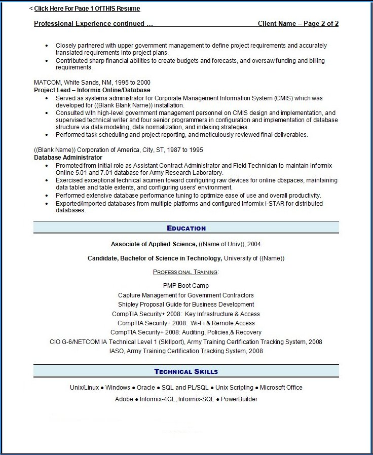 Resume Writing Guild Resume Example #3 Page 2