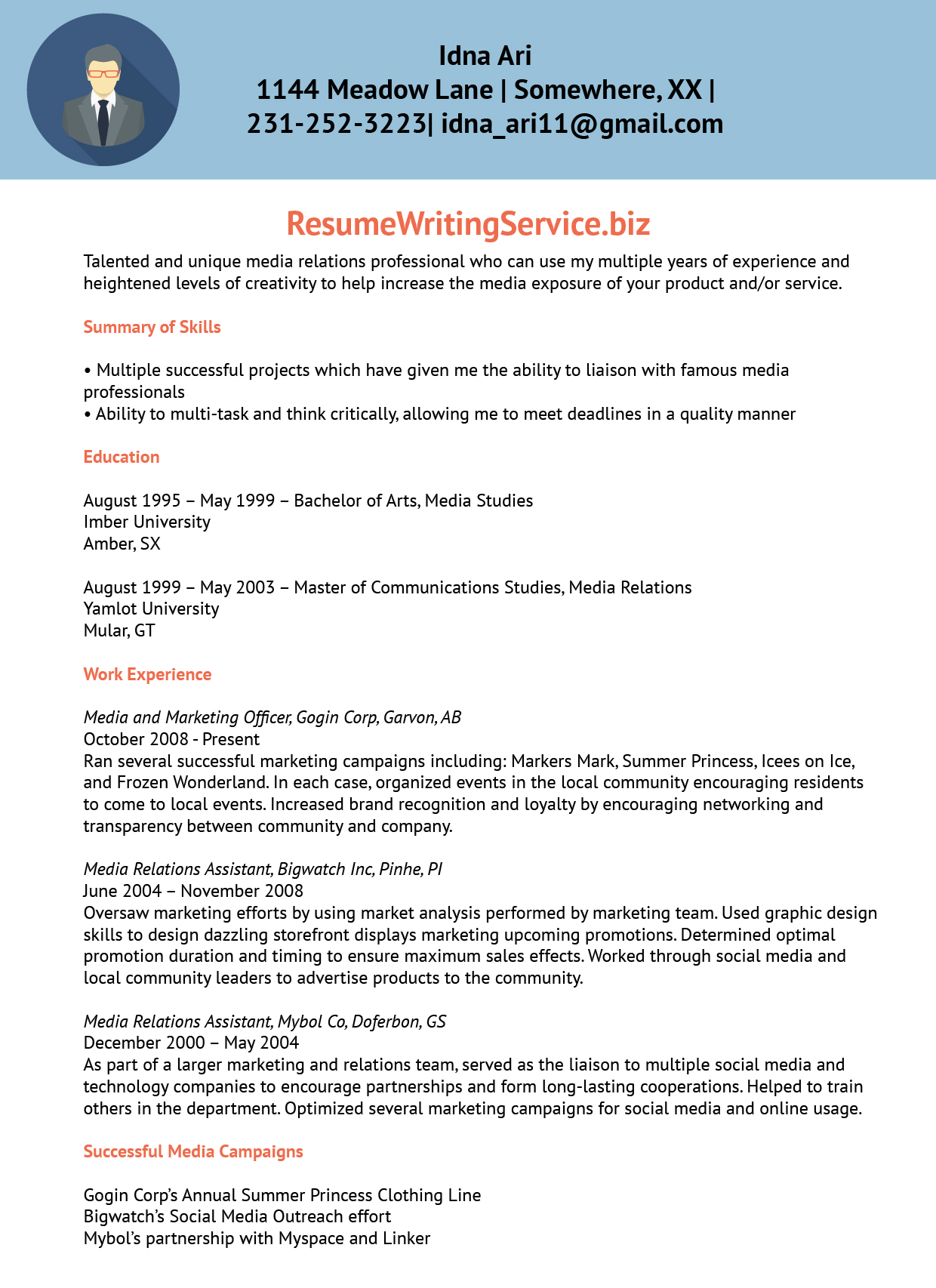 Resume Writing Services Usa Resume Marketing Services