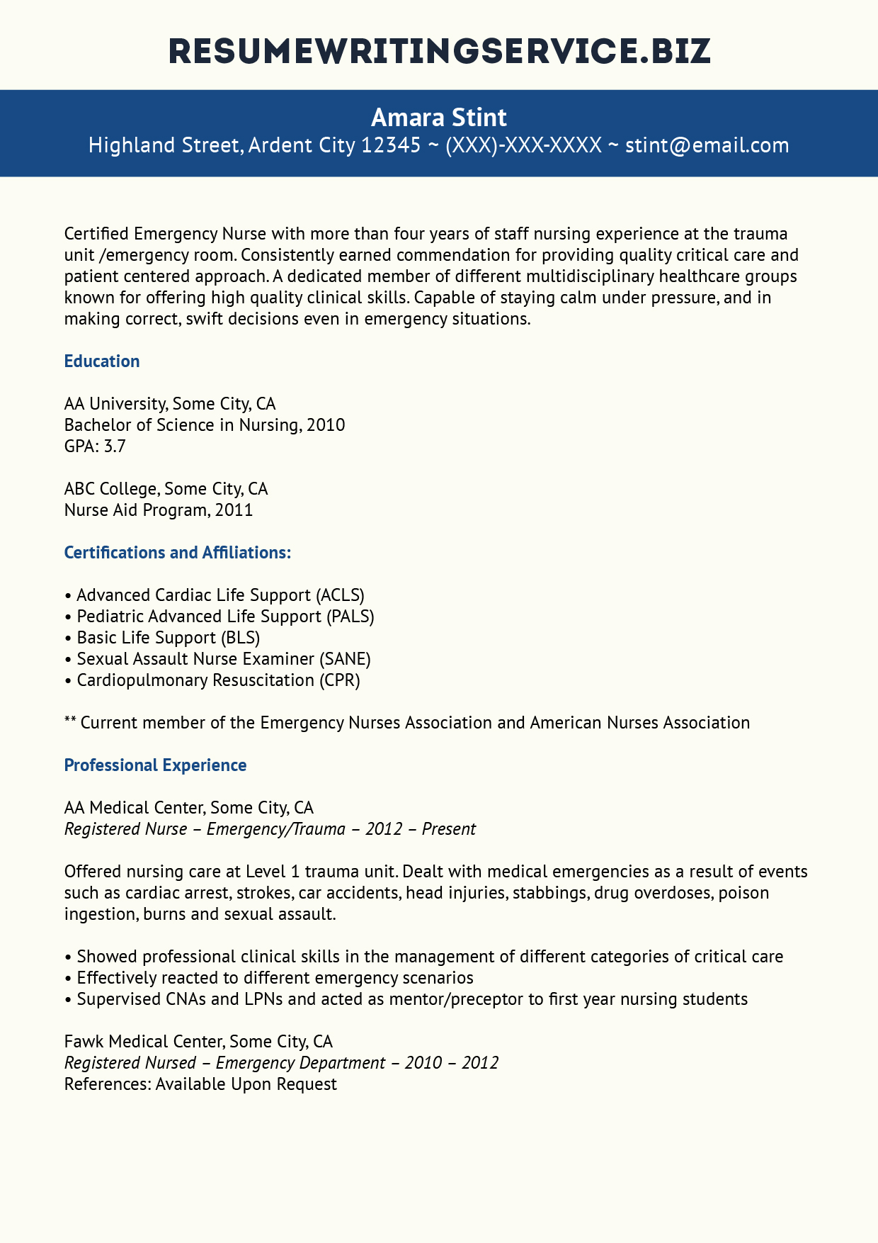 Nursing Resumes That Stand Out Excellent Staff Nurse Resume Sample