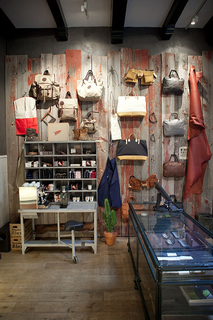Red Wing Shoes Store Amsterdam  Retail Design Blog