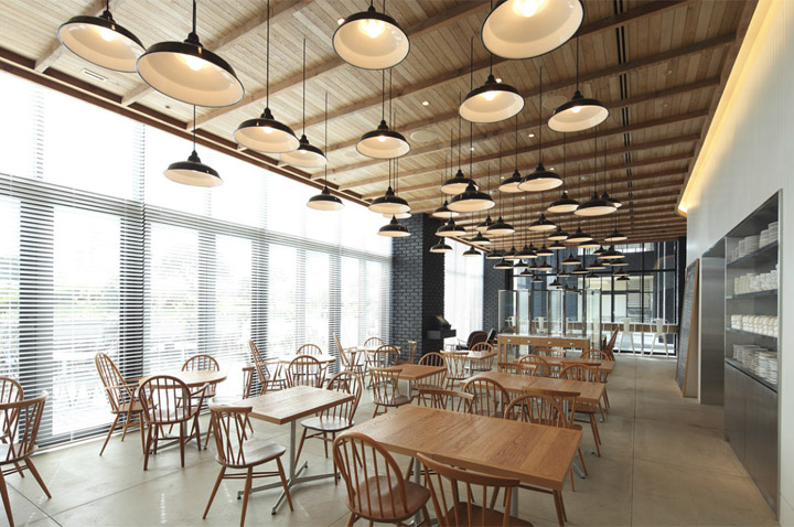 kitchen pictures for walls 6 piece table sets » the soho – canteen by wonderwall, tokyo