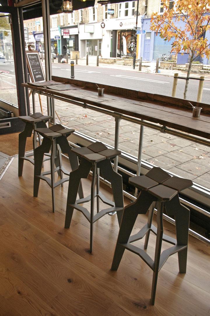 Artisan Coffee interior  furniture by Liquidesign  London