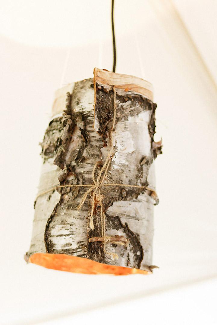 Birch Bark Lamps  Retail Design Blog