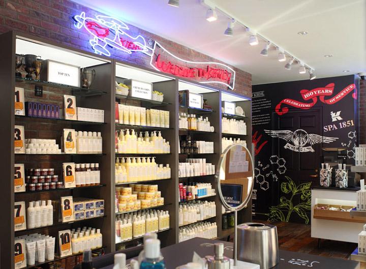 Kiehls Retail Store and Spa 1851 New York City  Retail Design Blog