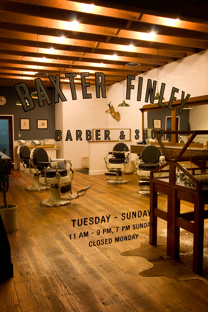 HAIRDRESSER Baxter Finley Barber  Shop Los Angeles