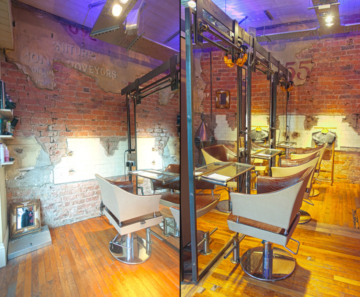 Boiler House hair salon by Collective Design Newcastle