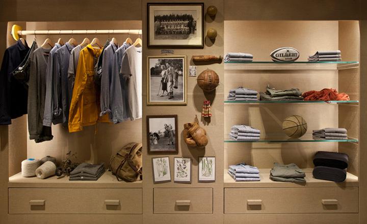 baseball desk chair overstuffed and a half woolrich store, london » retail design blog