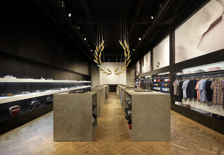 Fred Perry store by BuckleyGrayYeoman London Fred Perry store by BuckleyGrayYeoman, London