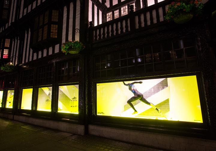 Nike x Liberty windows by Hotel Creative London