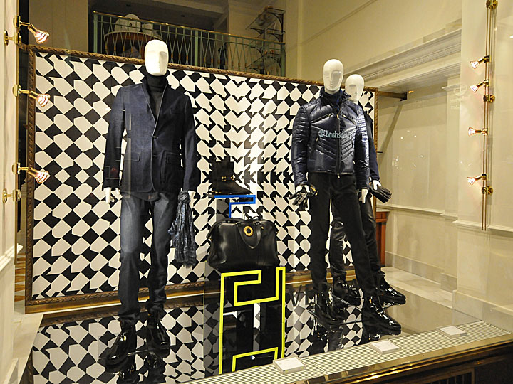 Versace window displays Autumn 2012 Vienna  Retail