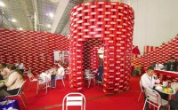 Coca Cola upcycling pavilon at Expo CIHAC by BNKR ...