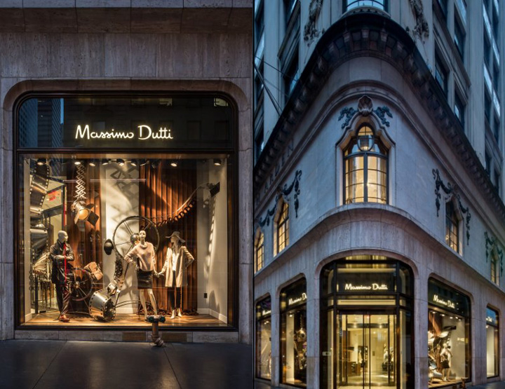 Massimo Dutti store at Fifth Avenue New York  Retail
