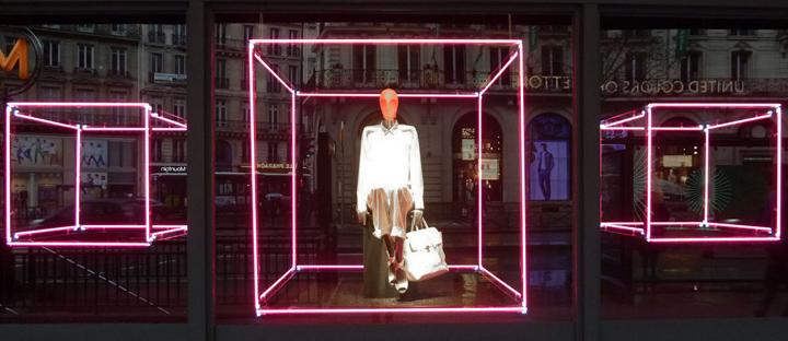 Printemps Color Amp Geometric Light Window Display Paris