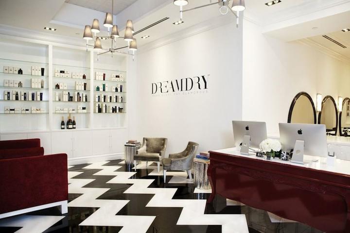 Rachel Zoes DreamDry salon New York  Retail Design Blog