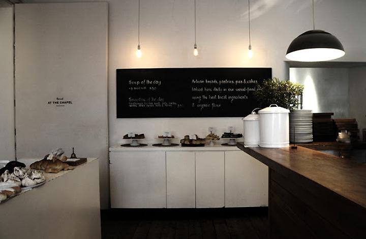 At the Chapel bakery restaurant caf bar Bruton  UK