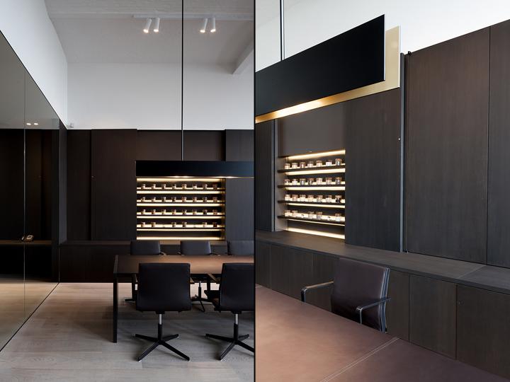 desk chair brown leather argos covers black belgo-seeds office by vincent van duysen architects, kortrijk – belgium » retail design blog