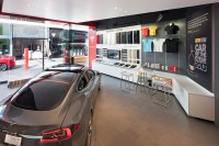 Tesla showroom by MBH Architects, Los Angeles ...