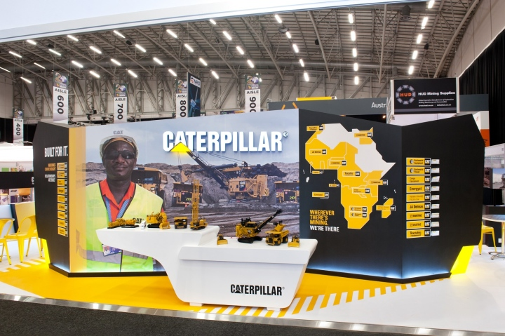 Caterpillar exhibit at Mining Indaba 2014 by Hott3D Cape Town South Africa 06 Caterpillar booth at Mining Indaba 2014 by Hott3D, Cape Town   South Africa