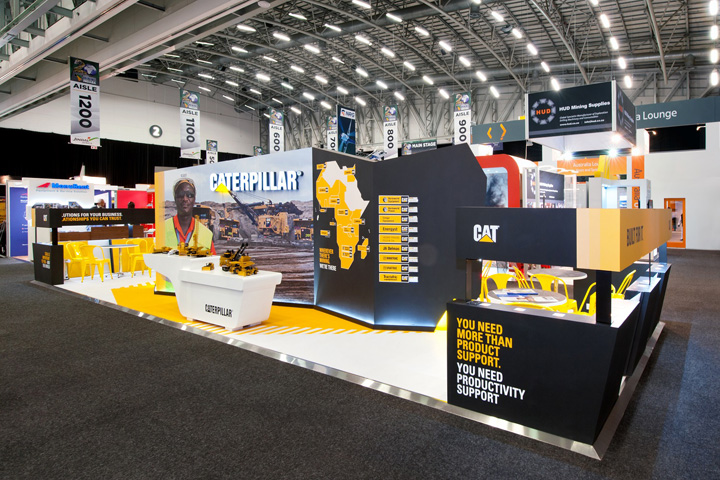 Caterpillar exhibit at Mining Indaba 2014 by Hott3D Cape Town South Africa Caterpillar booth at Mining Indaba 2014 by Hott3D, Cape Town   South Africa