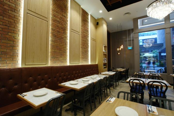 kitchen accent table rugs under zaffron restaurant by jp concept, singapore ...