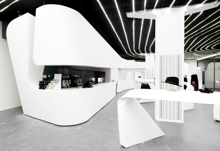 heidicom flagship boutique by Zaha Hadid architects