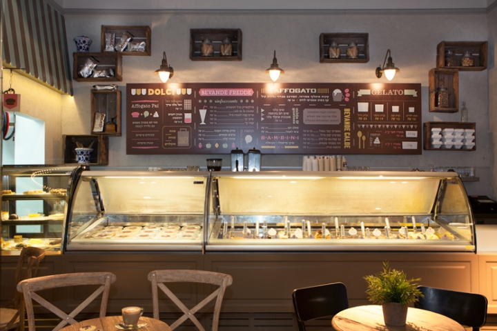 Afogto caf  ice cream parlour by Dana Shaked Beer