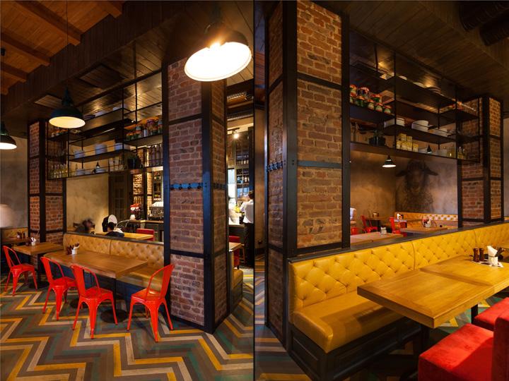 PastaBasta Italian restaurant by Soboleva_Storozhuk Chernygiv  Ukraine  Retail Design Blog