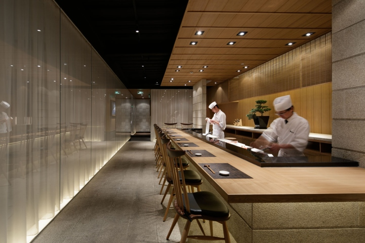 Grill  Sushi Bar by GATE interior design office Shanghai