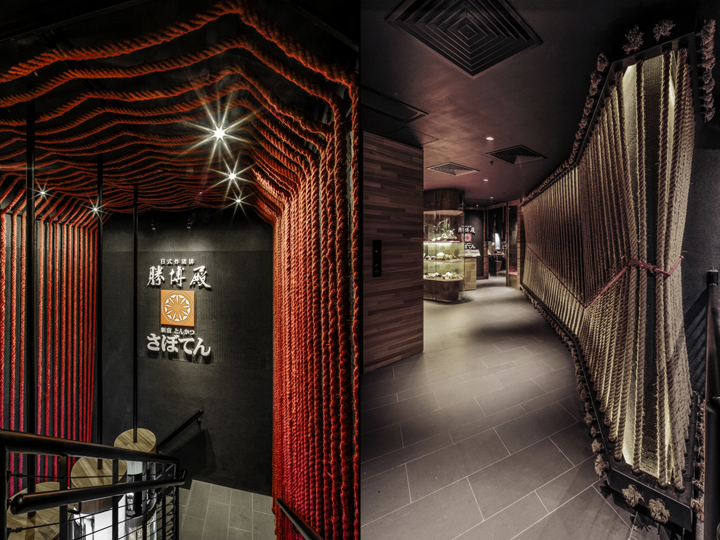 restaurant sofa booth seating 7 seater corner cover saboten by 4n architects, hong kong – china ...