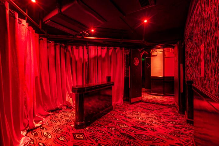 Red And Black Graffiti Wallpaper 187 Le Baron Nightclub By Storeage Shanghai China