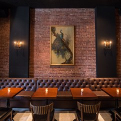 Black Leather Accent Chairs Vintage Metal Dining White Street Restaurant By Nella Vetrina, New York – Us » Retail Design Blog